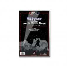 Pack of 25 BCW Silver Age Comic Book Mylar Bags 4 Mil